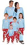 PajamaGram Family Pajamas Chill Out - Comfy Christmas PJs Set, Blue, Baby, 0-6M