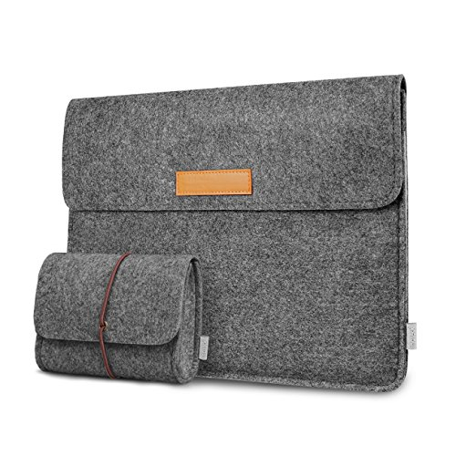 Inateck 12.3-13 Inch Laptop Sleeve Case Compatible 2020 MacBook Air, MacBook Pro 13'' 2020/2019/2018/2017/2016(A2251 A2289 A2159 A1989 A1706 A1708)/Microsoft Surface Pro X/7/6/5/4/3 - Dark Gray