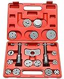 スラストボルトアセンブリおよび反応プレートと、アダプタプレートを正確に作られています 損傷のピストンとシールを防ぎます 車のサイド多様に適用可能な更新アダプタセット 耐久性と時間を節約 キットには含まれています:ホルダー、右本体、左側の本体と15のアダプタを