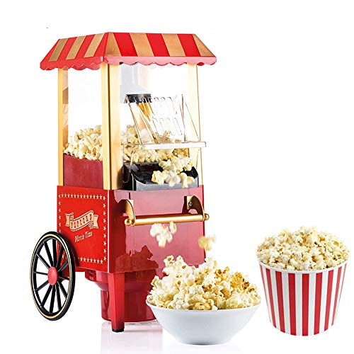 Sale!! LUSHUN Popcorns Machine Popcorn Maker Electric Hot Air Popcorn Popper with Measuring Cup and ...