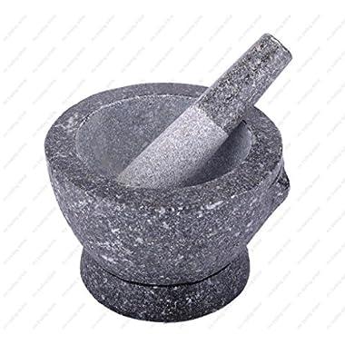 Stone (Granite) Mortar and Pestle, 7 in, 2+ cup capacity