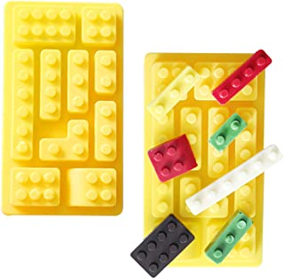 2 Pieces Building Blocks Silicone Mould, Baking Mould for Making Chocolate, Cake, Jelly, Dome Mousse