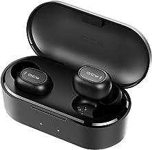 HOMSCAM Cuffie Bluetooth 5.0 QCY Auricolari Bluetooth Senza Fili Auricolari Wireless Stereo Sportivi in Ear con Custodia da Ricarica 800mAh Microfono Leggeri Hi-Fi per iPhone Huawei Xiaomi Samsung