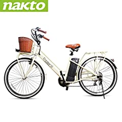 ►►1 Year Warranty & Professional After-sales Service: Nakto Inc provide 1 year warranty for the electric motor, battery and other parts. You don't have to worry about damaged parts or repairs. If you have any questions, Nakto Inc have professional af...