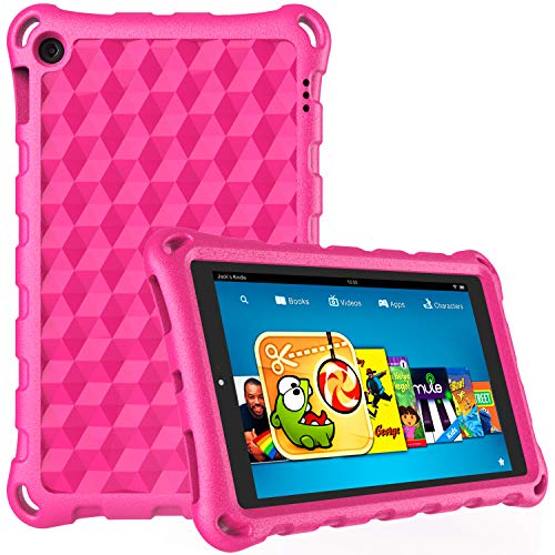 Fire 7 Tablet Case,Kindle Fire 7 Case,DiHines Light Weight Kids Shock Proof Case Cover for Fire 7 Tablet (Compatible with 7th Generation, 2017 Release/9th Generation, 2019)