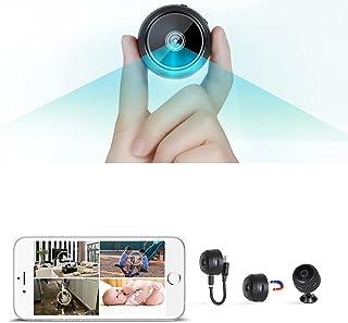 كاميرا مراقبة صغيرة لاسلكية محمولة لتسجيل مقاطع الفيديو مزودة بشبكة WiFi عالية الوضوح بدقة HD 1080P مع مستشعر للحركة وخاصي...