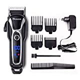 SURKER Hair Clipper Men's Electric Cordless Hair Trimmer Speed Adjustable Professional Haircut Beard Trimmer Hair Cutting Machine Kit with Ceramic Cutting Head four Attachment Combs
