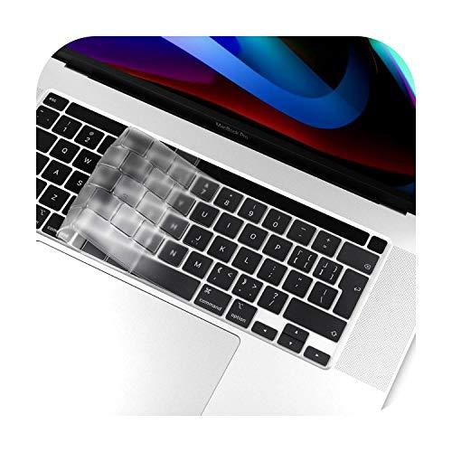 UE/UK - Funda blanda de TPU para teclado Macbook Air Retina 12 13 2020 New Air Pro 13.3 15 16 pulgadas 2019 Nuevo air13 2020 A2179