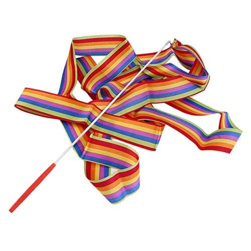 NewIncorrupt 4M Universal Gym Dance Ribbon Arte rítmico Gimnasia Streamer Twirling Rod Stick Dance Performace Accesorios