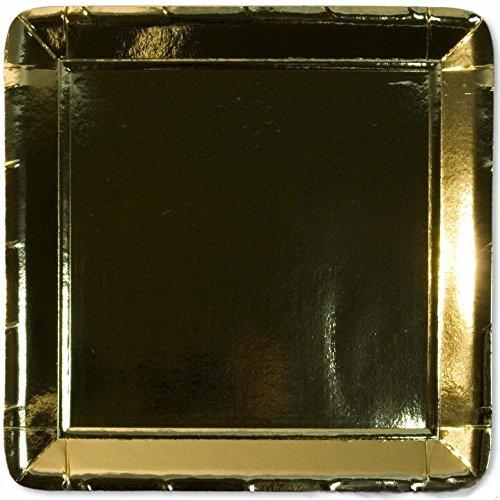 Exclusive Trade 10 carrés de Papier Or Brillant de plaques 19 cm