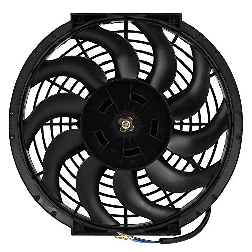 Great Price! Josopa 12 inch Universal Car Fan-12V DC Electric 2 Speed Fans,Quiet Strong Cooling Fan,...
