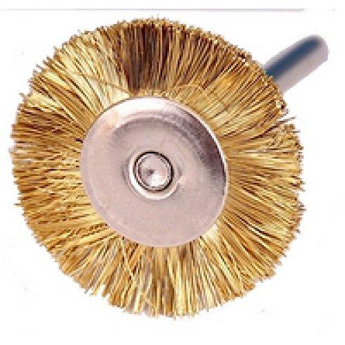 Rotation Brosse – Laiton 24 mm de diamètre, avec tige 3 mm 60751