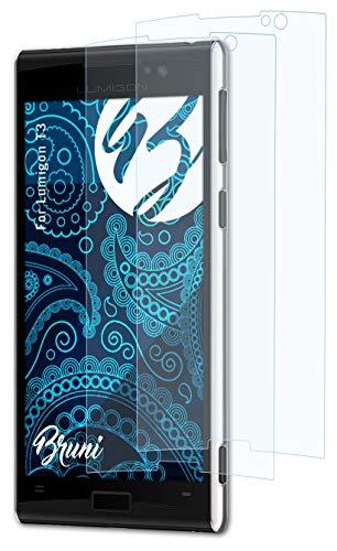 Bruni Schutzfolie kompatibel mit Lumigon T3 Folie, glasklare Bildschirmschutzfolie (2X)