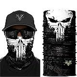 Punisher Multifunktionstuch, Schlauchschal, Bandana, Airsoft Gesichtsmaske, Kopfbedeckung