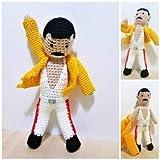 Freddie Mercury, handgemachte Wollpuppe. Rockstar und Sänger der Rockband Queen