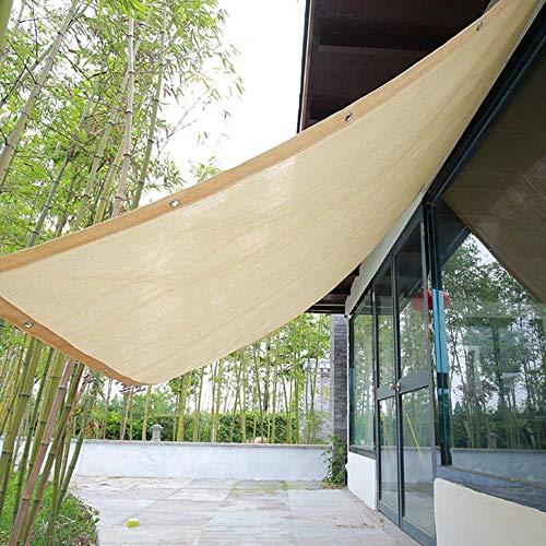 Viner Beige zonnescherm Zeil Huis Tuin Luifels Buitenbescherming Zonwering Luifel Vierkant Patio Glazen huis Aangepast formaat, 2m bij 4m