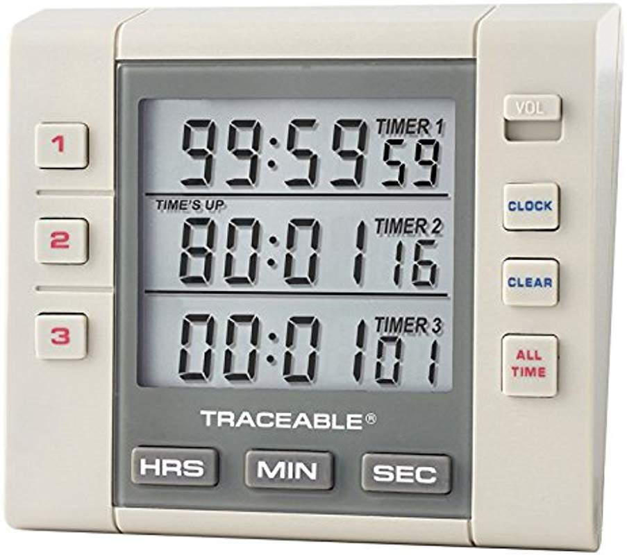 Control Company 5000 Traceable Three Channel Alarm Timer