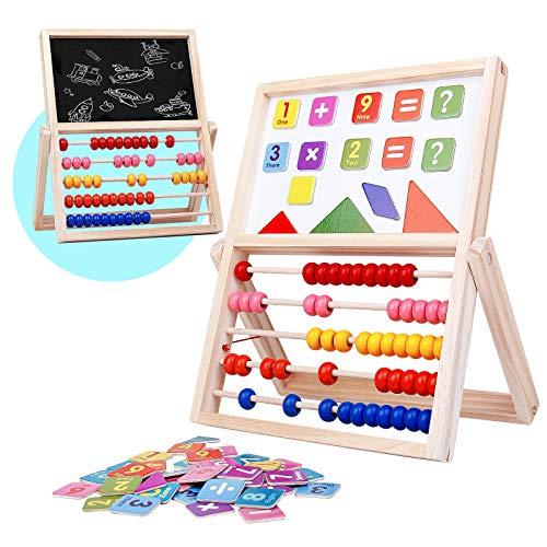 buenos comparativa Jerry Bonn Wooden Baby Abacus Montessori, Puzzle magnético para niños Tablero de doble cara … y opiniones de 2021