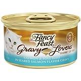 Fancy Feast Gravy Lovers Salmon & Sole Feast in Seared Salmon Flavor Gravy Cat Food 3 oz, 12 Cans