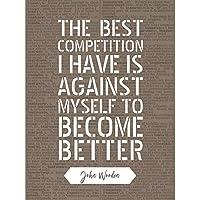 Quote John Wooden Competition Better Basketball Coach Unframed Wall Art Print Poster Home Decor Premium 見積もり 木材 壁 ポスター ホーム デコ