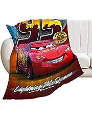 Lightning Mc-Queen filt bilar mönster fleece filtar slitstark bekväm supermjuk varm filt barn vuxna 127 x 102 cm