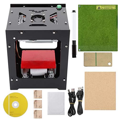 Zyyini NEJE 3000mW La-Ser Graviersticheldrucker Acryl 490x490 Pixel USB Mini Graviermaschine CNC Router Schneiden Offline-Betrieb Gravierter Drucker für Holz Papier DIY Design
