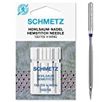 SCHMETZ Agujas para máquina de coser Hemstitch/Wing, paquete de dos, tamaño 100/16 (3 paquetes de...