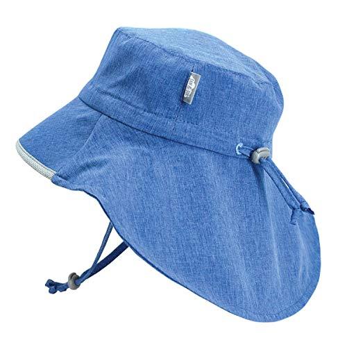 JAN & JUL Child Sun-Hat with UV Protection, Size Adjustable, Wide Brim...