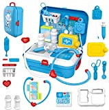 radhey preet™ pretend play doctor set in back-pack version   17 pcs contents in back-pack- Multi color
