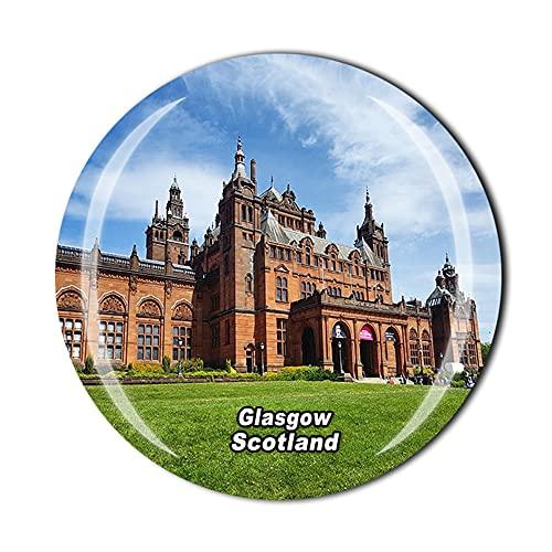 Glasgow Scotland 3D Refrigerator Magnet Crystal Style Souvenir Fridge...