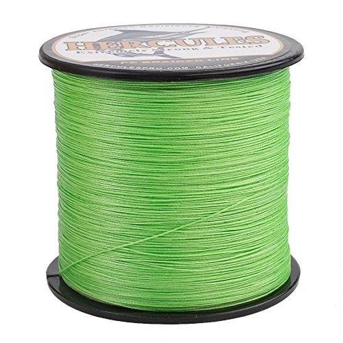 HERCULES Braided Fishing Line 2000m 2187yds 10lbs-200lbs Pe Superline 8 Strands (Fluorescent Green 30lb/13.6kg 0.28mm)