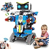 Remote Control Robot Building Kit, 2-in-1 STEM Building Blocks Robot Toys Set Remote Control Engineering Science Educational Building Toys Kits for 8 9 10 11 12+ Boys and Girls Gift 796 PCS