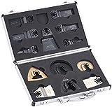AGT Professional Multitool-Zubehörsets: Werkzeug-Zubehör-Koffer für Multitools, Schnellspann-Aufnahme (Multitool-Sägeblatt Sets)