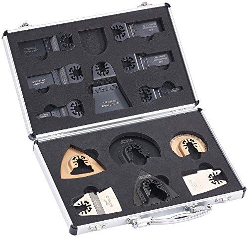 Preisvergleich Produktbild AGT Professional Multitool-Sägeblatt Set: Werkzeug-Zubehör-Koffer für Multitools,  Schnellspann-Aufnahme (Zubehör für Multifunktionswerkzeug)