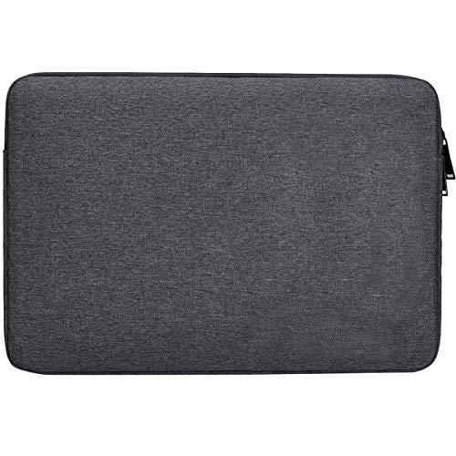 Laptophülle für Acer Chromebook 15, Acer Aspire E 15 E5-575, Acer Predator Helios 300 15,6 Zoll (39,6 cm), Asus/Dell/Lenovo/HP/Toshiba/Samsung Notebook, wasserfest grau dunkelgrau 13-13.3 Inch