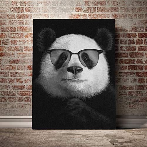 DIY 5D Kits de Pintura de Diamantes Perfecto para la relajación y la decoración de la pared del hogar.Panda fresco con gafas de sol (30x40) CM
