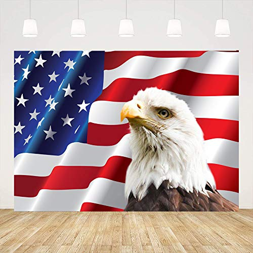 Ticuenicoa 7x5ft 4th of July Backdrops for Photography Independence Day American Flag Background Eagle Props Photo Booth Backdrop Birthday Baby Shower Party Banner Festive Events Decorations