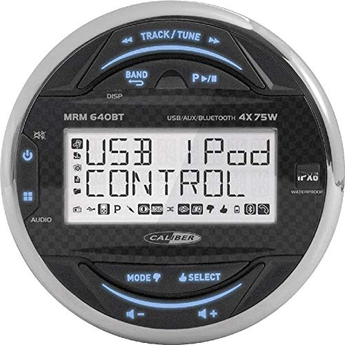 Caliber MRM640BT Wasserdicht Marine Bluetooth Radio FM AM, USB, Boot Stereo Audio MP3 Player Schwarz