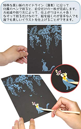 プランドル『スクラッチアートポストカード』