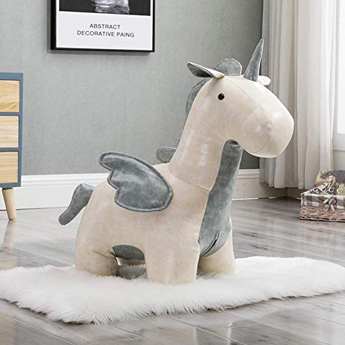HEWEI Pony Low Stool Children Sitting Stool Footstool Sofa Stool Ottoman Home Change Shoes Stool is The Child's Best Birthday Christmas Day Gift A