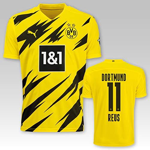 PUMA BVB Heimtrikot Kinder Saison 2020/21, Größe:140, Spielername:11 Reus