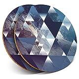 Destination Vinyl ltd 8221 - Posavasos (2 Unidades), diseño de Paisaje Abstracto