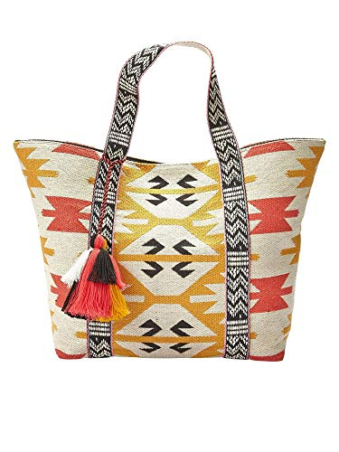 LASCANA Strandtasche im Et, Größe:-, Farbe:weiß/gelb/ro