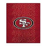 Pegasus Sports NFL Echo Team Wordmark Plush Blanket- San Francisco 49ers, Team Color, 60x70