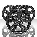 Auto Reflections Set of 4 17' 5 Spoke Wheel Skins for Chevy Equinox LS 2010-2017 - Gloss Black