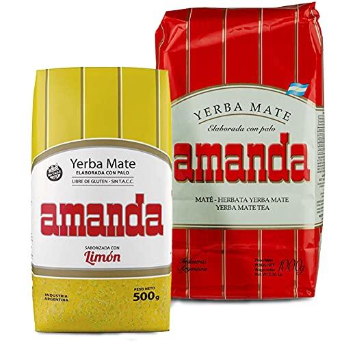 Juego de té Yerba Mate Amanda Tradial 1 kg + Amanda Lemon...