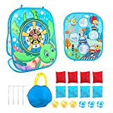 3 in 1 Bean Bag Outdoor Toys Game for Kids Cartoon Outdoor Toss Game, Toddler Outdoor Toys Ages 2 3 4 5 Year Old Boy, Family Party Supplies for Kids, Gift for Birthday or Christmas for Boys Girls