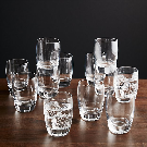 Otis Juice Glass Set of 12 in Drinking Glasses + Reviews | Crate and Barrel