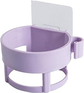 Ricky 浴室用ラック, ドライヤーホルダー 壁掛け ドライヤー ラック 浴室収納ラック お風呂場 キッチン 用品 丈夫 貼り付けるだけ (パープル)