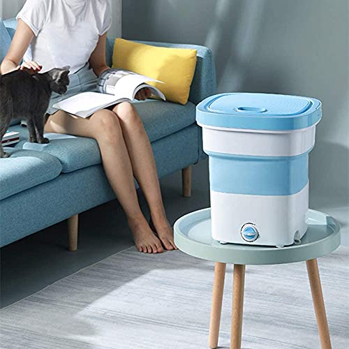 Zorzel Portable Mini Folding Washing Machine, Lightweight Washer Laundry Washer,Suitable for Baby Clothes, Students and Travel self-Driving (2Kg,Multi Colour)